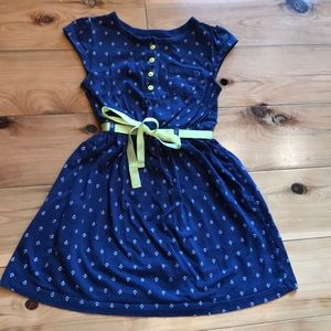 Carters navy anchor dress